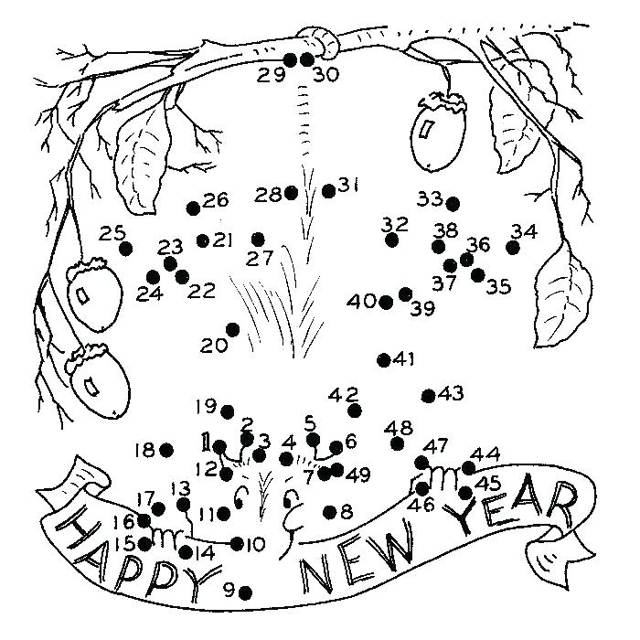 700x700 New Years Coloring Pages New Year Coloring Pages Free