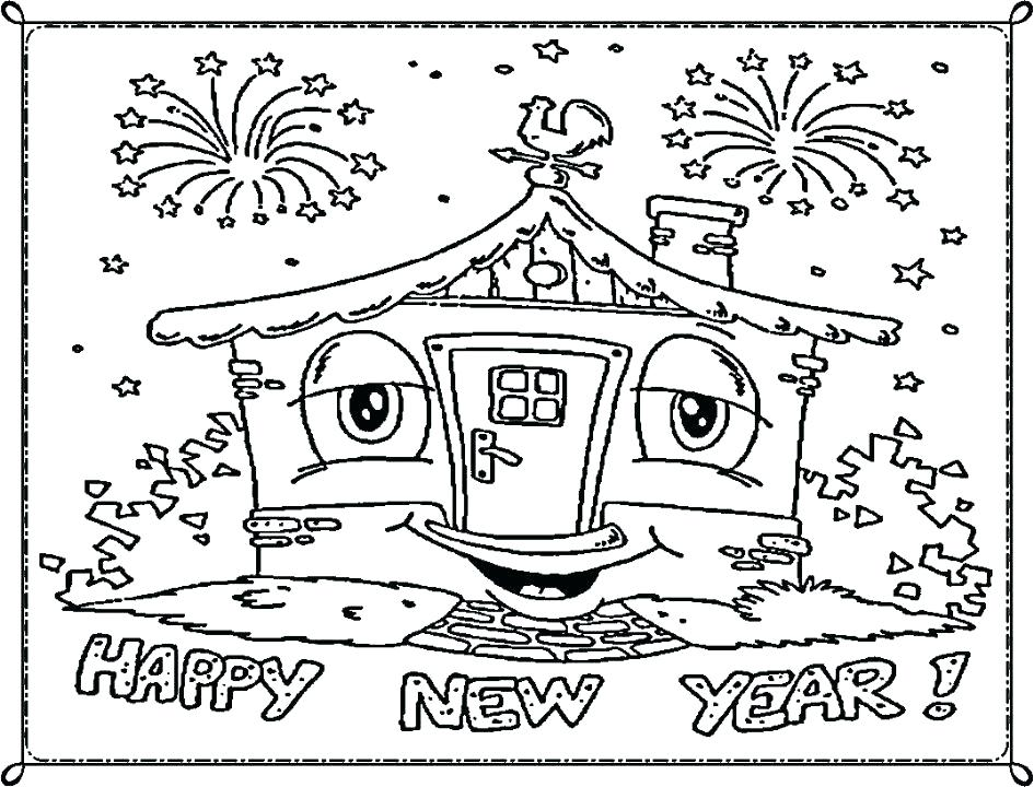 945x720 New Years Coloring Pages Free Printable New Years Coloring Pages