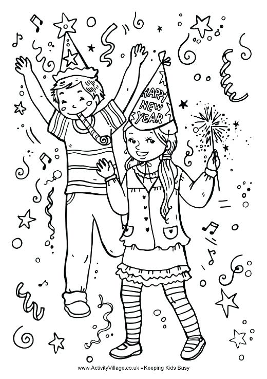 520x737 New Years Coloring Pages With Coloring Sheets For Year Coloring