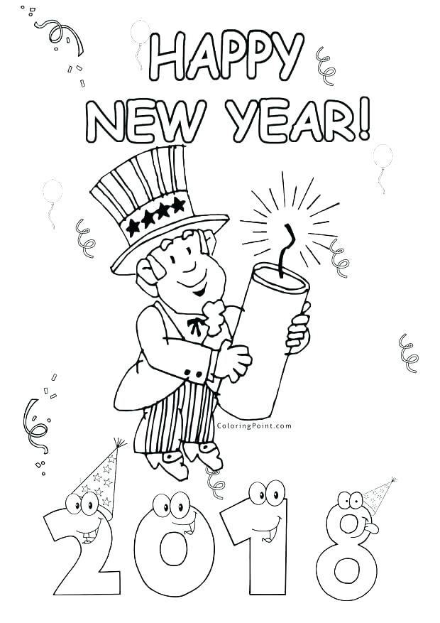 620x877 New Years Coloring Pictures Happy New Year Coloring Pages New