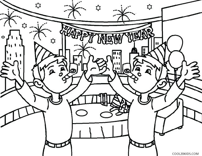 650x503 New Years Coloring Sheets Banner Coloring Pages New Years Coloring