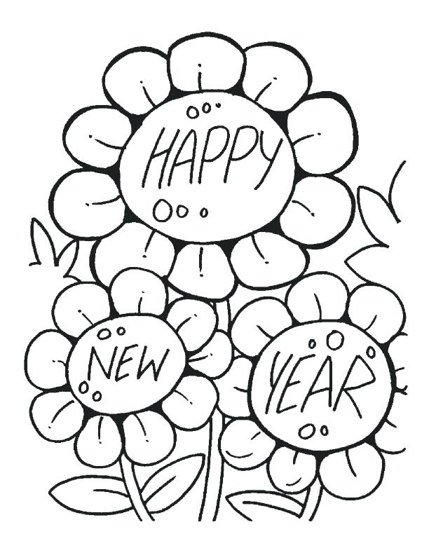 612x792 New Years Eve Coloring Pages Printable Happy New Year Coloring