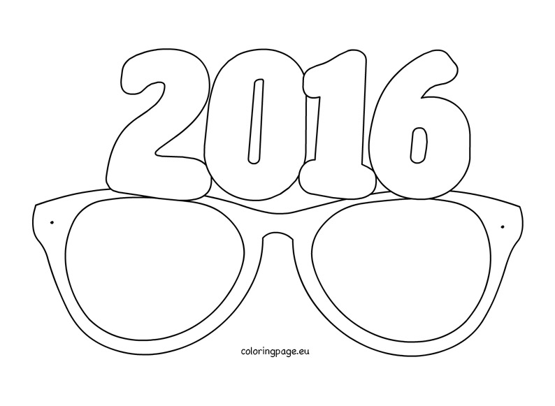 794x581 Paper Party Glasses Coloring Page
