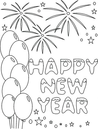 379x500 Coloring Pages New Years Coloring Pages Year For Adults New