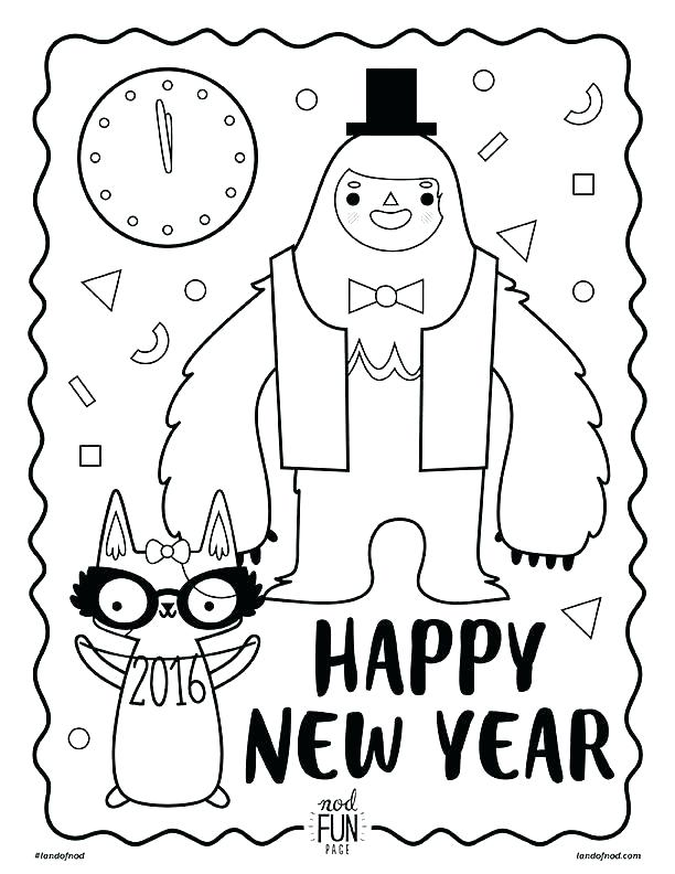 612x792 New Years Eve Coloring Pages Printable Optimalmining Club