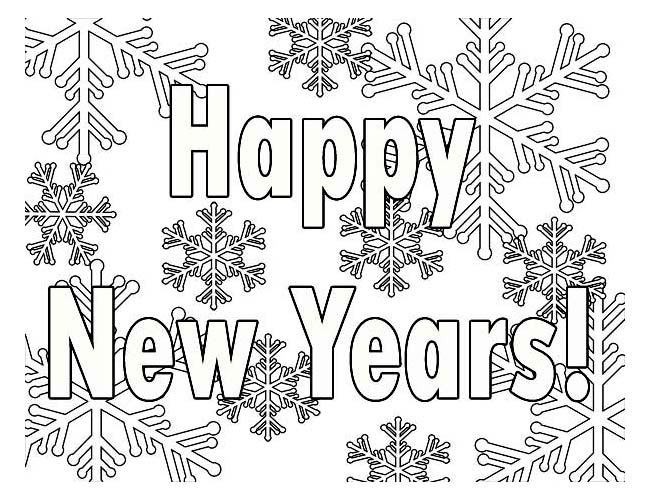 New Years Coloring Pages 2018