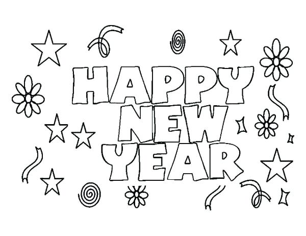 600x462 New Years Coloring Pages Happy New Years Coloring Pages Happy New