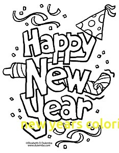233x300 New Years Coloring Pages With Happy New Year Coloring Pages