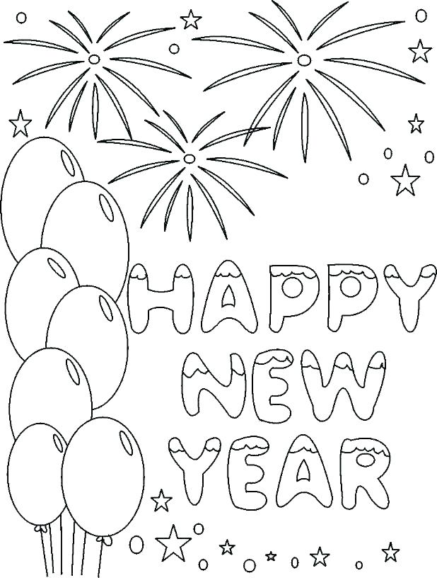 618x816 New Years Printable Coloring Pages New Years Coloring Pages Happy