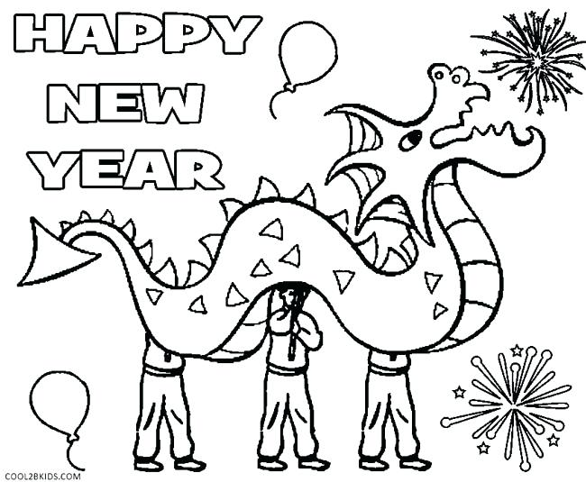 650x535 New Years Printable Coloring Pages Printable New Years Coloring