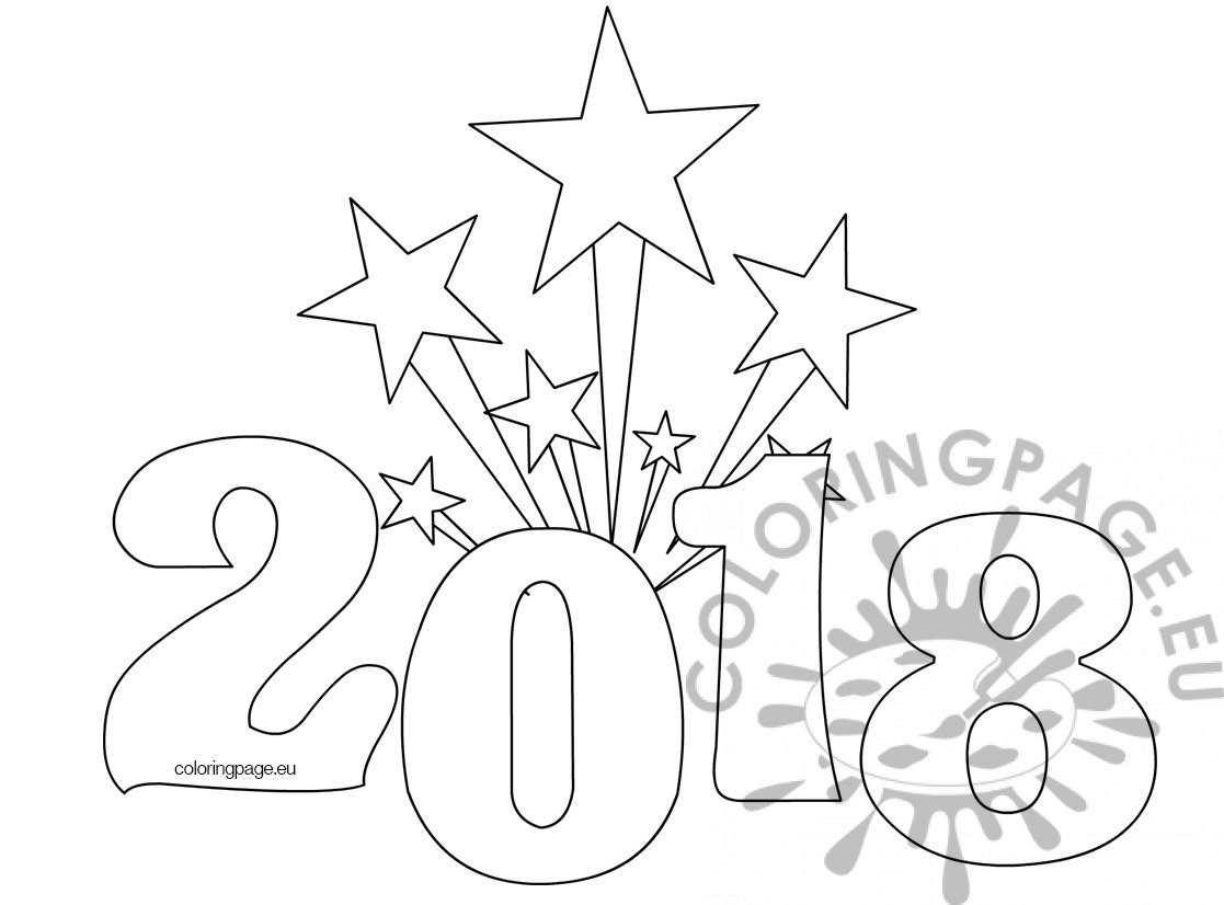 1117x826 Printable New Years Coloring Page Coloring Page