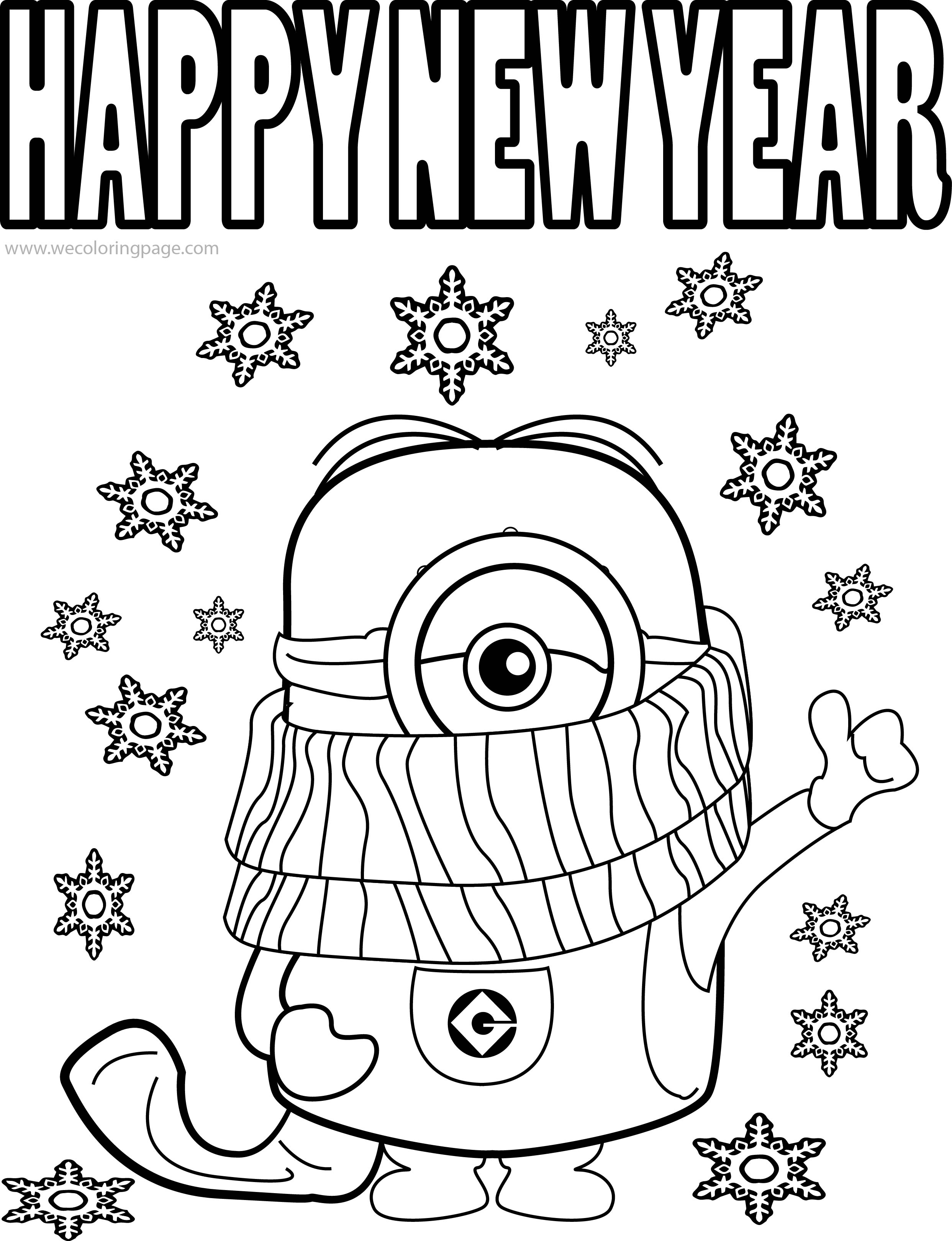 2485x3241 Happy New Year Coloring Pages Hd Printable Photos Images New