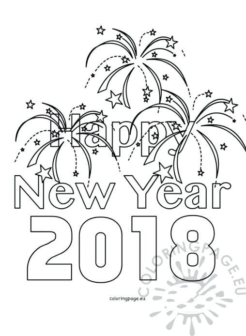 508x694 Happy New Year Coloring Pages Pdf Icontent