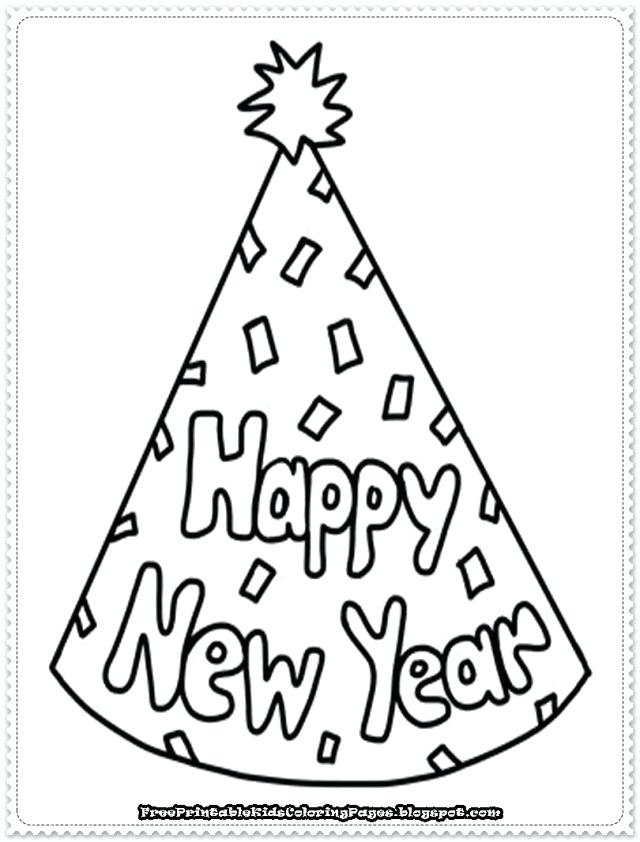 640x842 Happy New Year Coloring Pages For Free New Years Coloring Pages