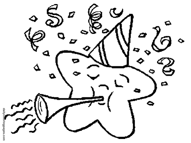 800x600 Happy New Year Coloring Sheets