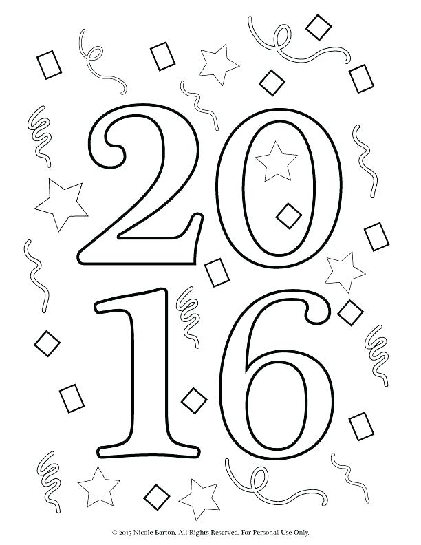 612x792 New Years Coloring Pages New Years Eve Coloring Pages Happy Year