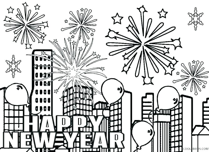 850x618 New Years Coloring Pages Printable New Years Pictures To Color New