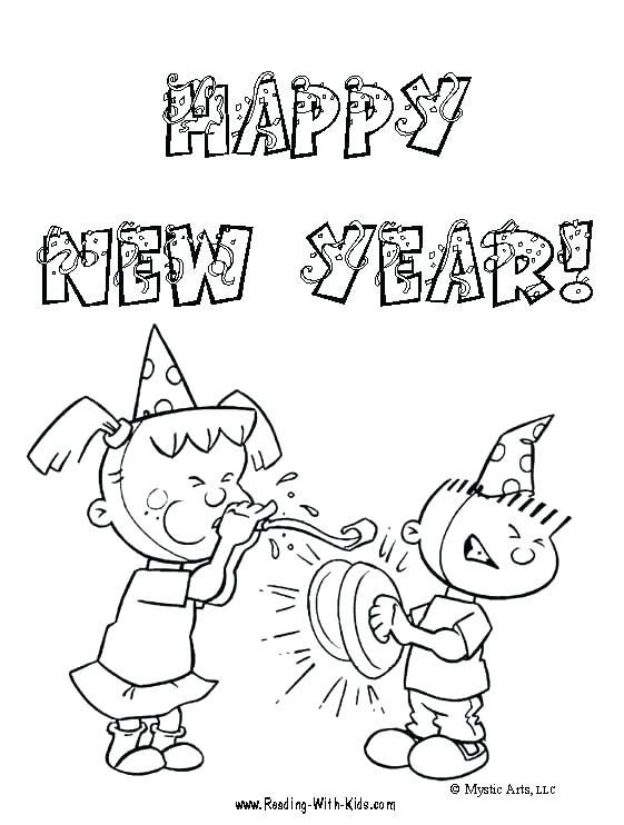 561x742 New Years Coloring Pictures New Years Eve Free Printable Coloring