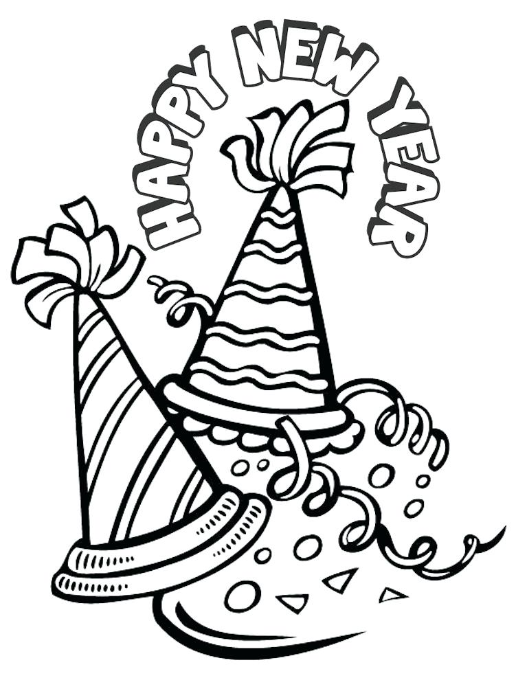751x987 New Years Eve Coloring Pages Happy New Year Coloring Pages