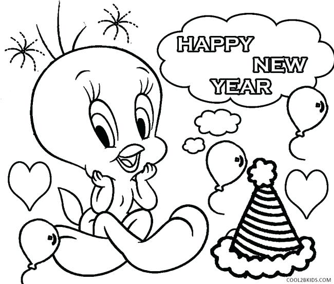 650x553 New Years Eve Coloring Pages New Years Printable Coloring Pages