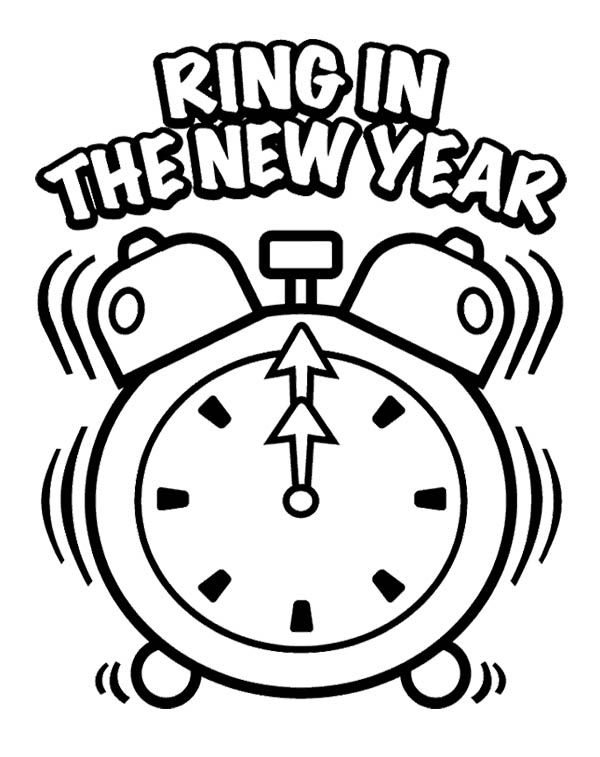 600x757 Ring In The New Year Eve Coloring Page New Year Coloring Page