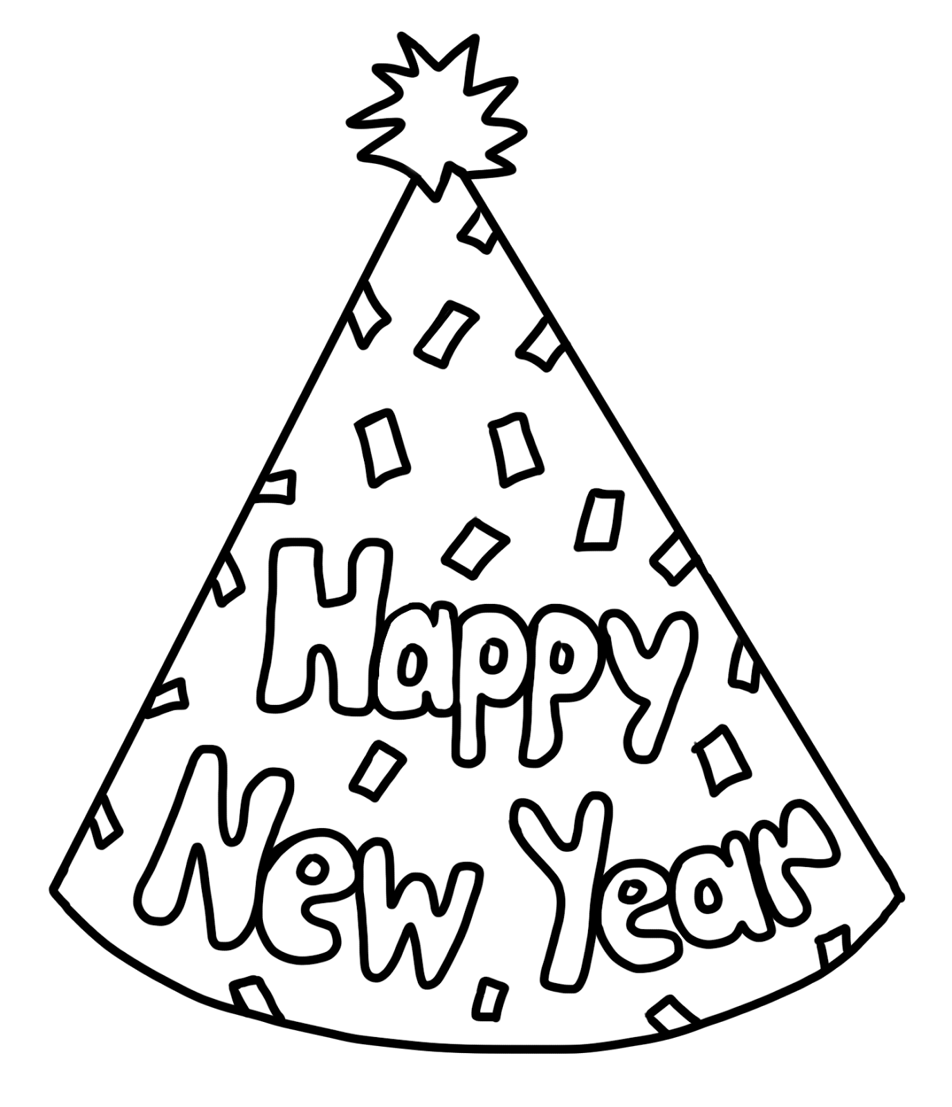 1376x1600 Special New Year Coloring Pages Free Printable