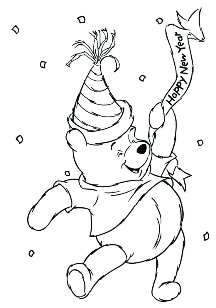 736x1049 Printable New Years Coloring Pages