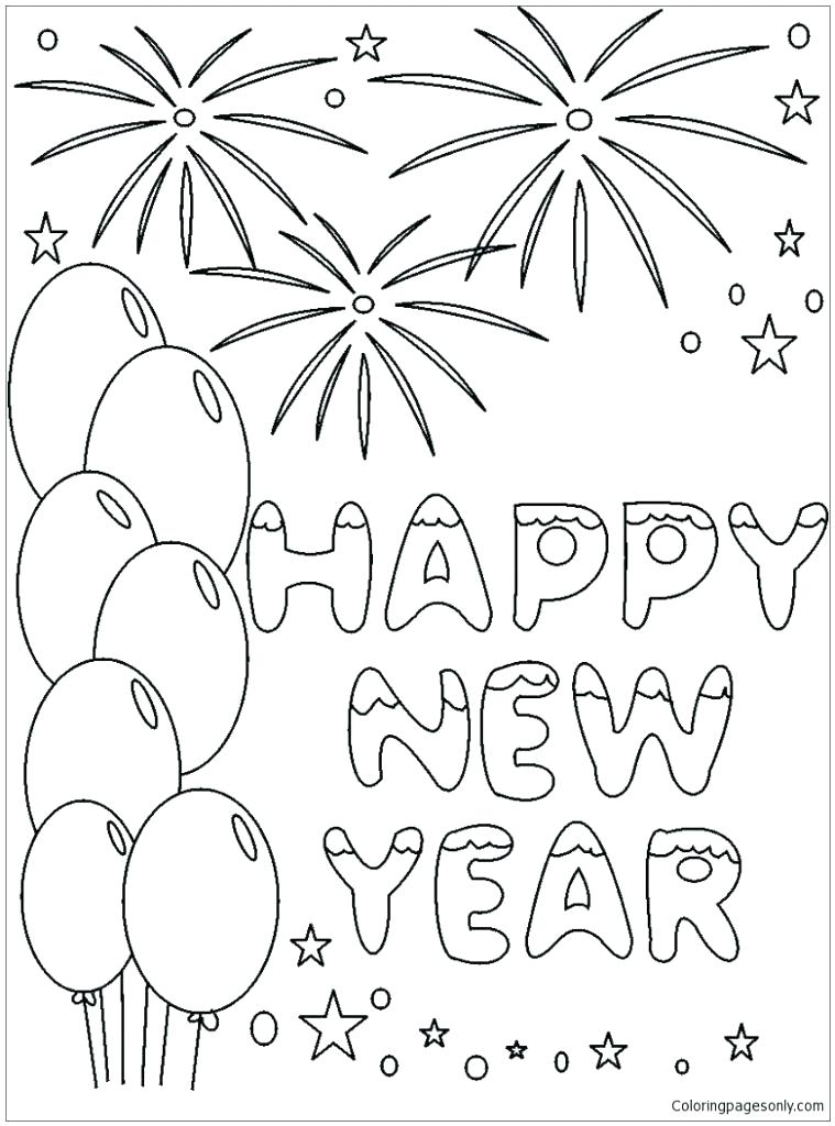 759x1024 Coloring Pages New Years Eve Modest New Years Eve Coloring Pages