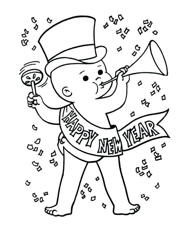 New Years Eve Coloring Pages Printable