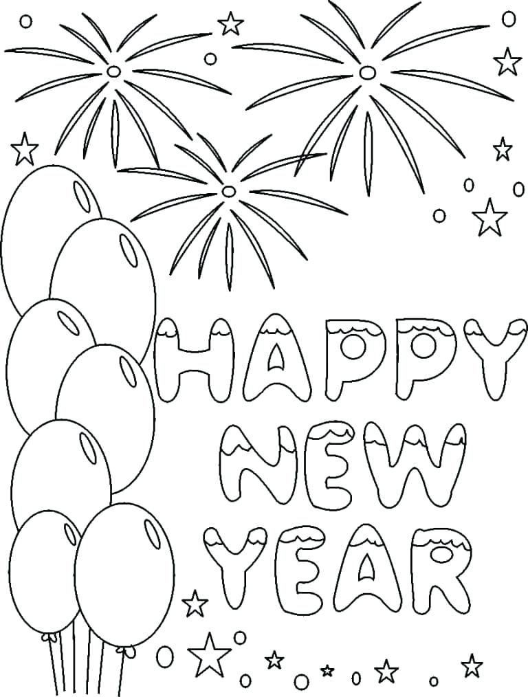 768x1014 Printable New Year Coloring Pages Happy New Year Coloring Page New