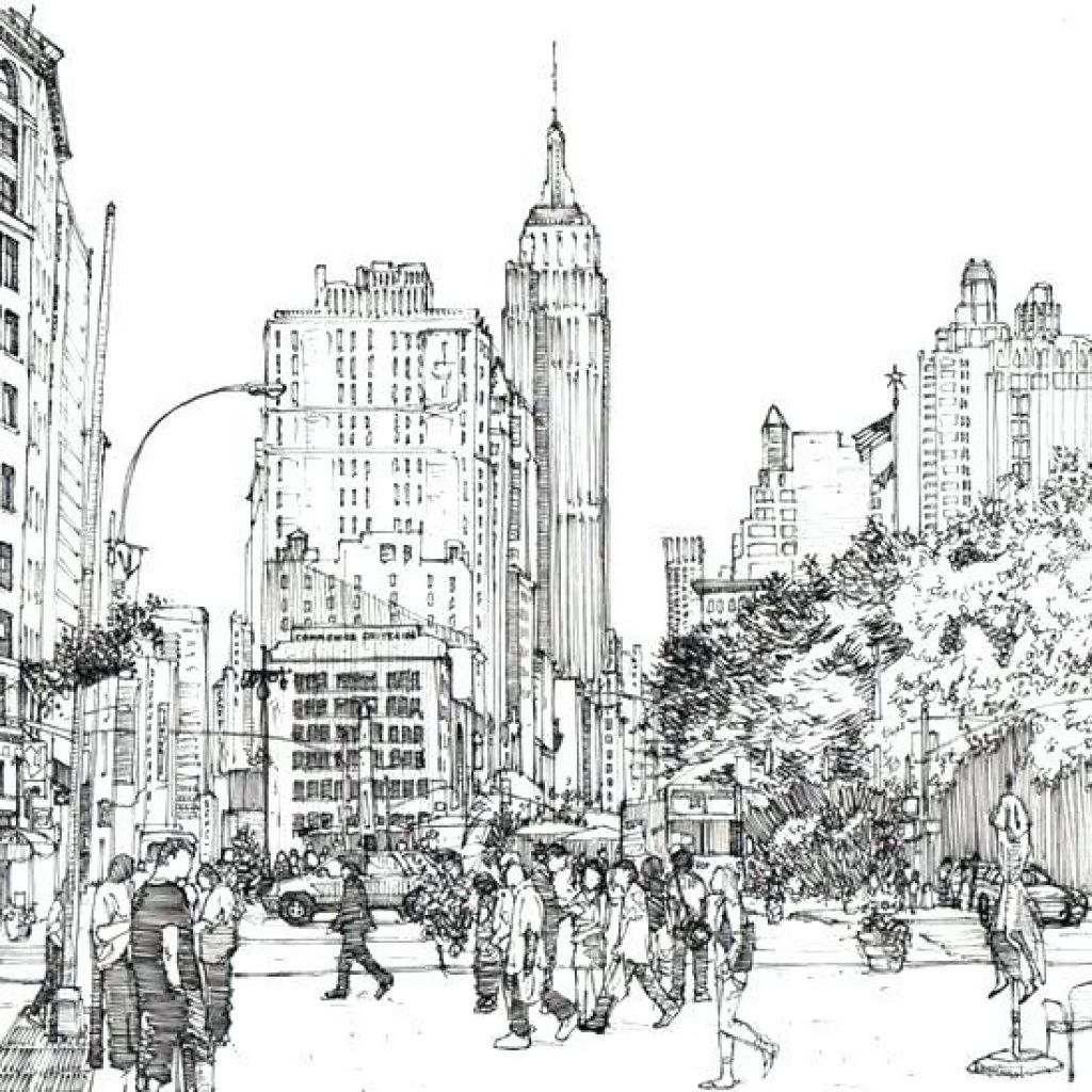 1024x1024 New York City Coloring Pages City Coloring Page Free Printable New