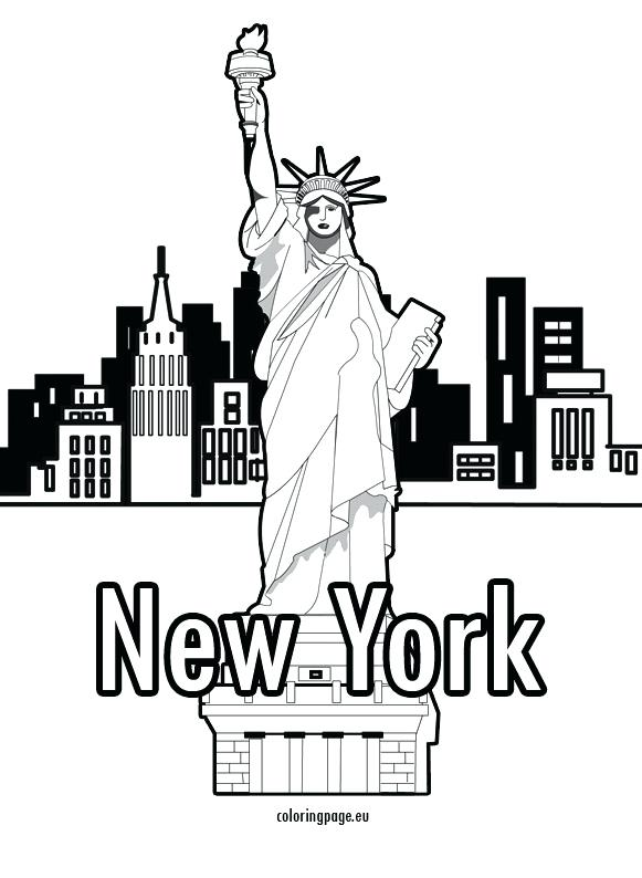 581x794 New York City Coloring Pages Page Free Printable Coloring Collection