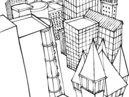 440x330 Chicago City Skyline Coloring Pages Skyline Coloring Pages