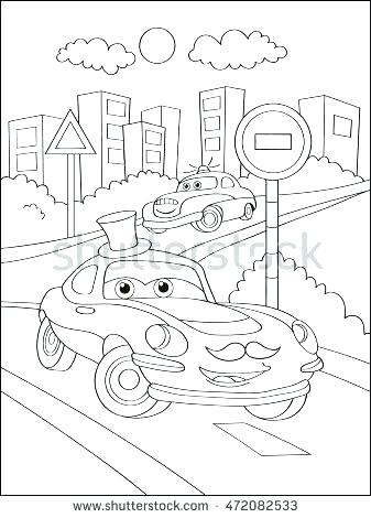 337x470 New York Skyline Coloring Page