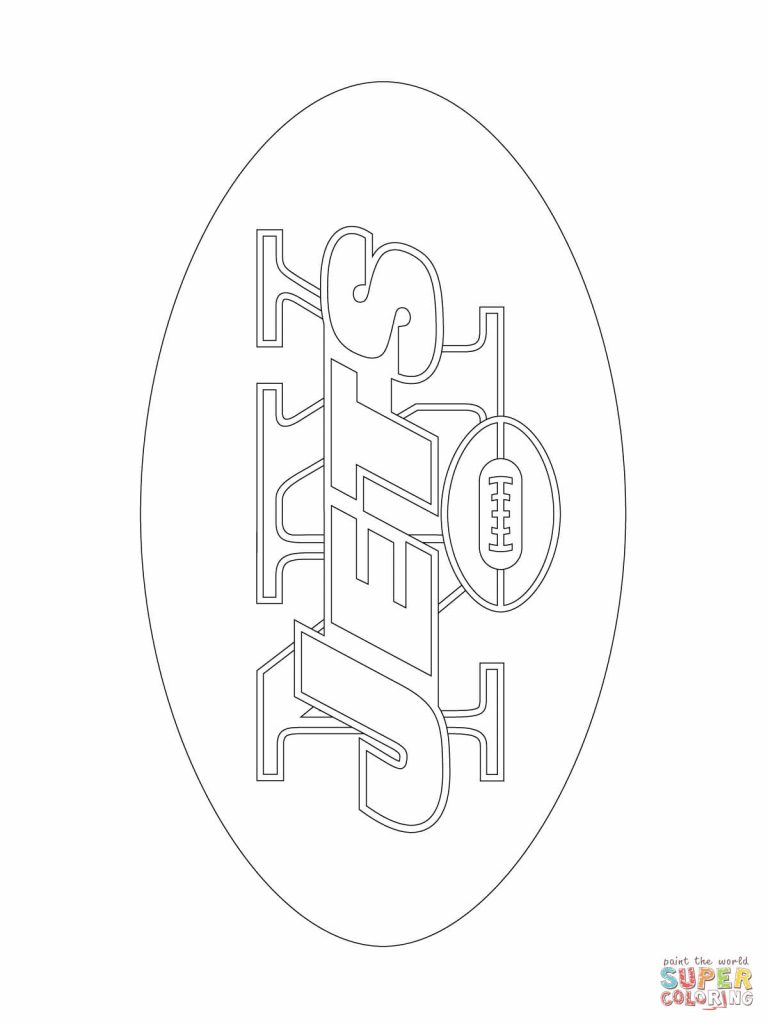 768x1024 Jets Football Coloring Pages Best Of New Yorkjets Logo Page
