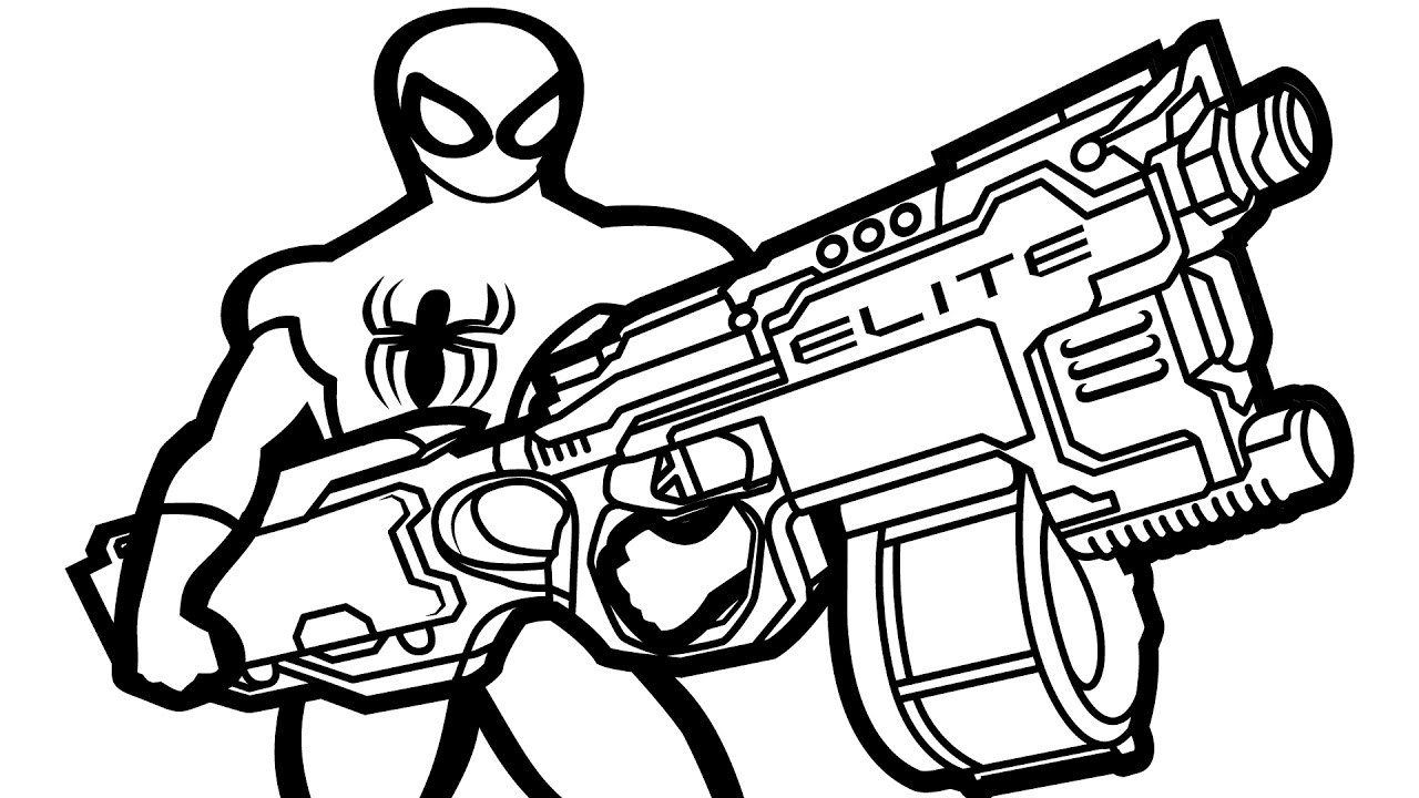 1280x720 Modest Gun Colouring Pages Nerf Coloring Newyo