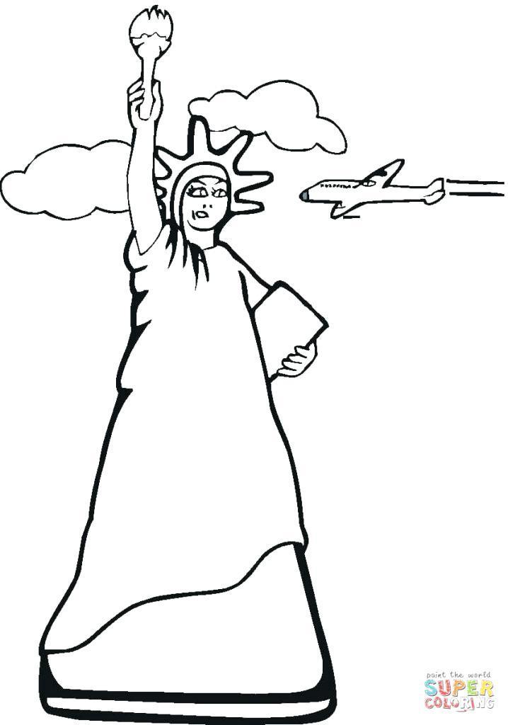 718x1024 New York Coloring Pages Statue Of Liberty Fourth Coloring Page
