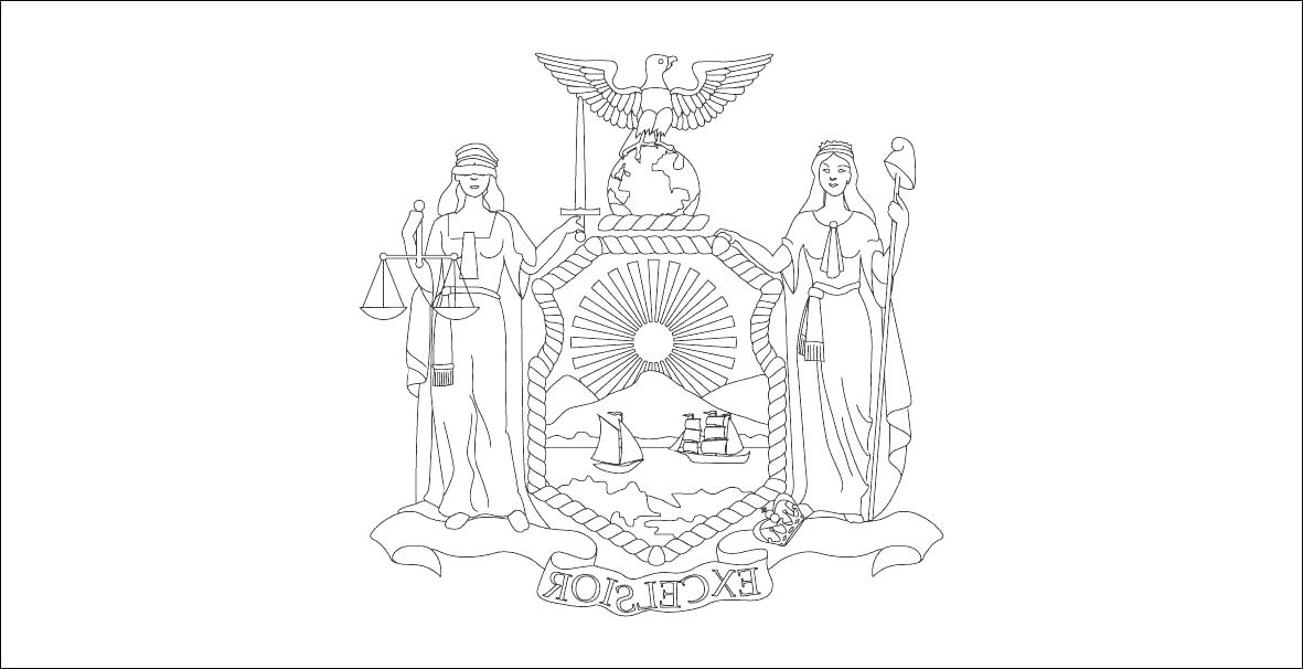 1181x606 New York Rangers Coloring Pages New York State Flag Coloring Page