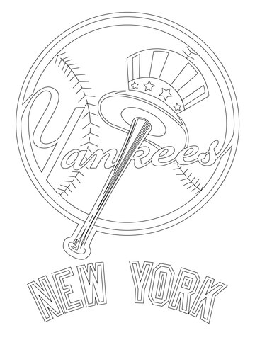 360x480 New York Yankees Symbol Coloring Pages