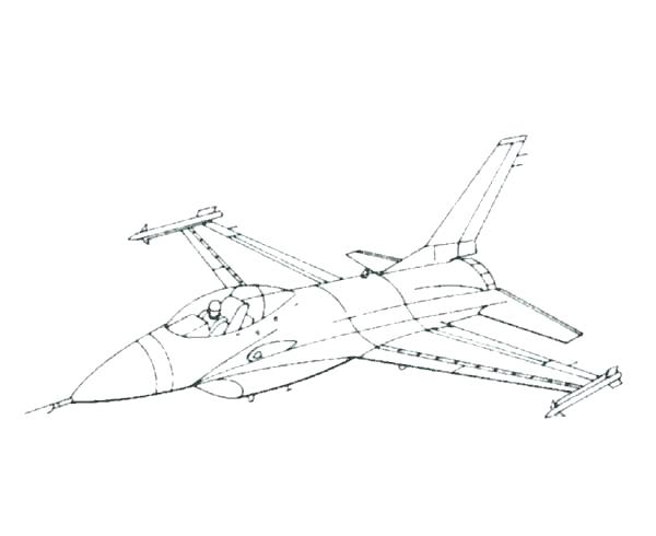 600x490 Jets Coloring Pages
