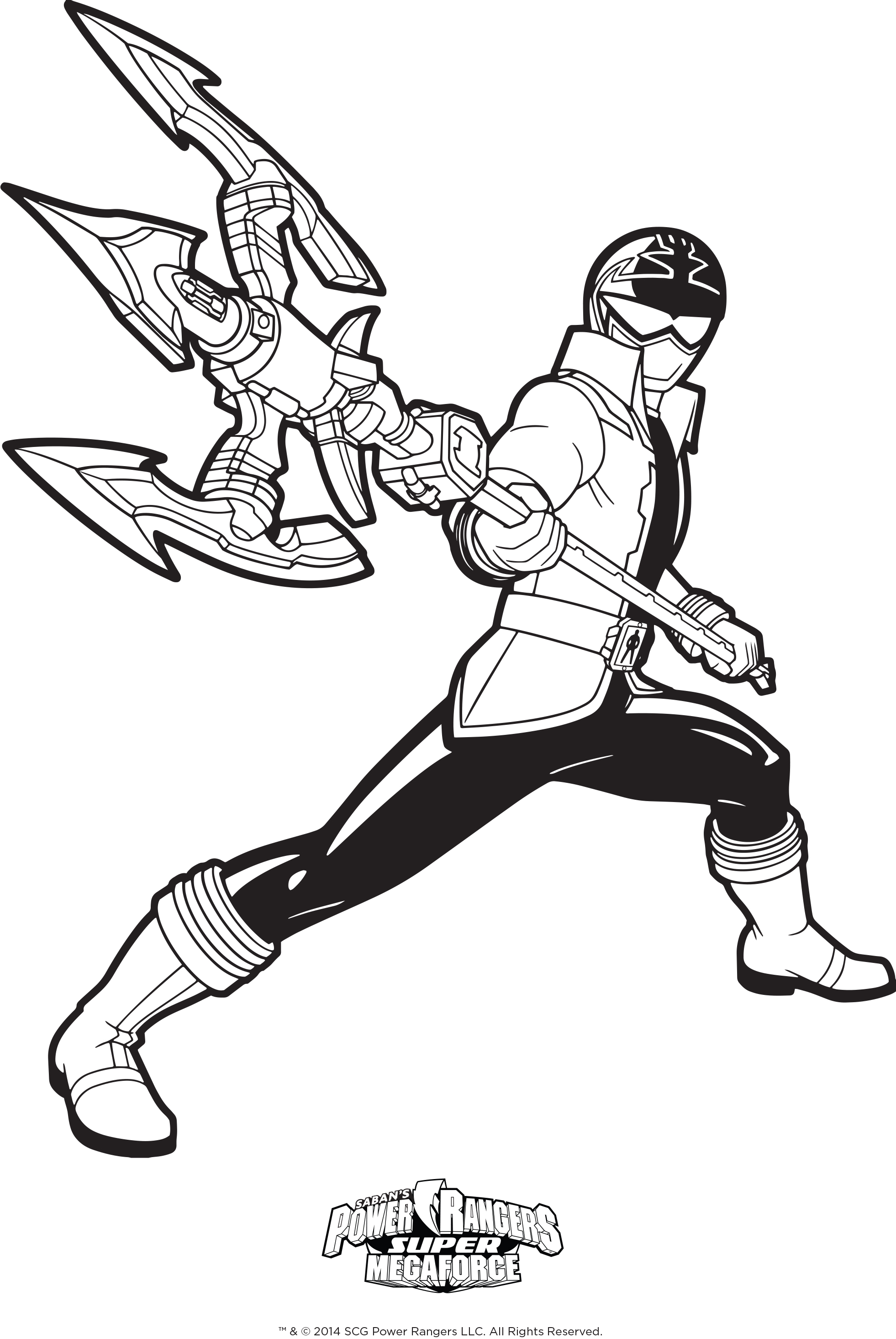 1962x2930 Power Rangers Jungle Fury Coloring Pages Newyork