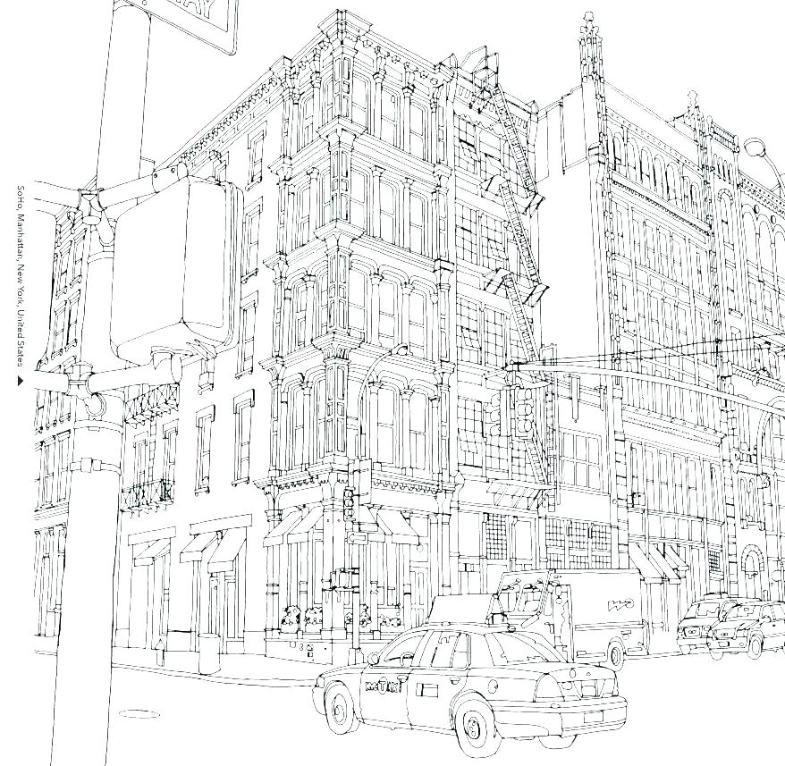 878x857 New York City Coloring Pages New Coloring Pages New Skyline More