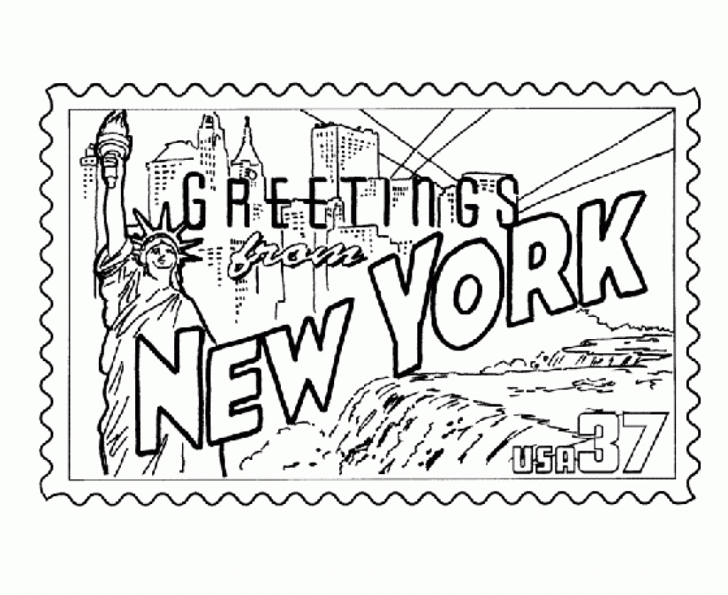 1024x837 New York City Coloring Pages Gallery Of Full Size Of Coloringsan