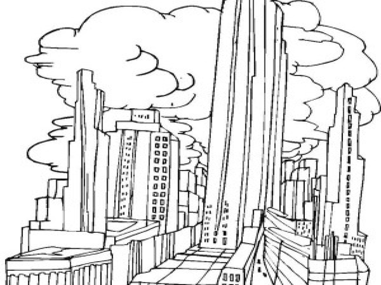 1280x960 New York Coloring Pages