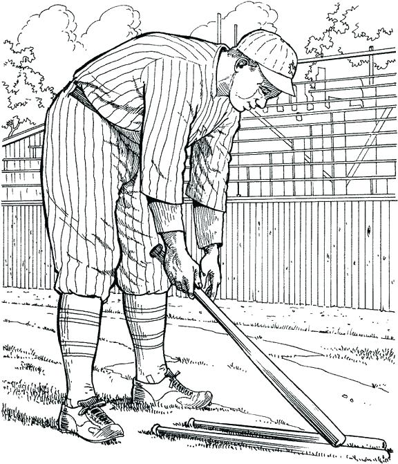 576x671 New York Coloring Pages Or New Coloring Pages New Player Baseball