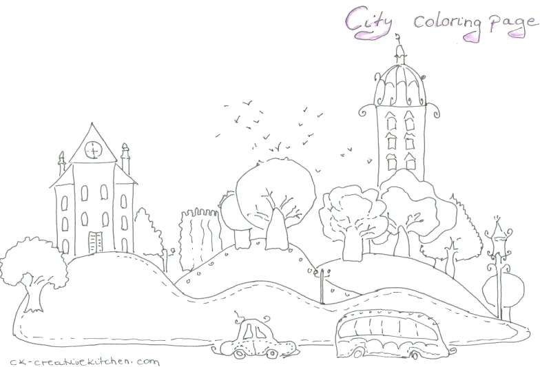 800x533 City Coloring Page City Coloring Pages New City Coloring Pages