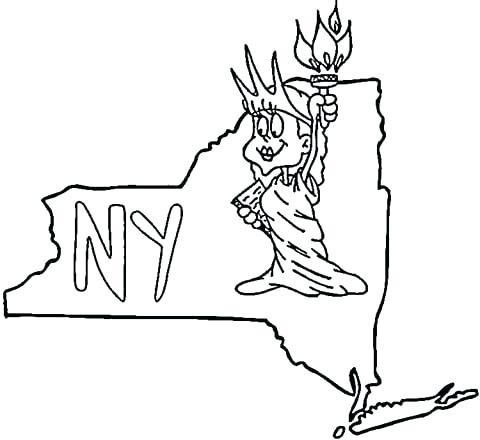 480x440 New York Skyline Coloring Page New Black And White A Drawing