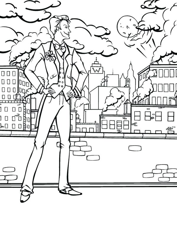 600x767 City Coloring Page Joker Watching City Coloring Page City Bus
