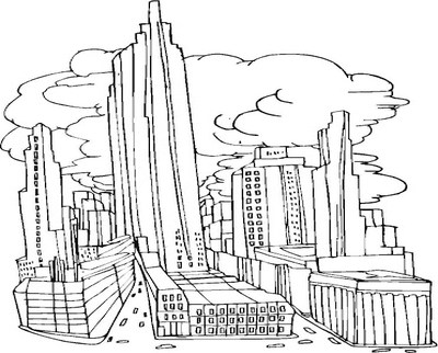 400x322 Dorable New York City Skyline Coloring Pages Sketch