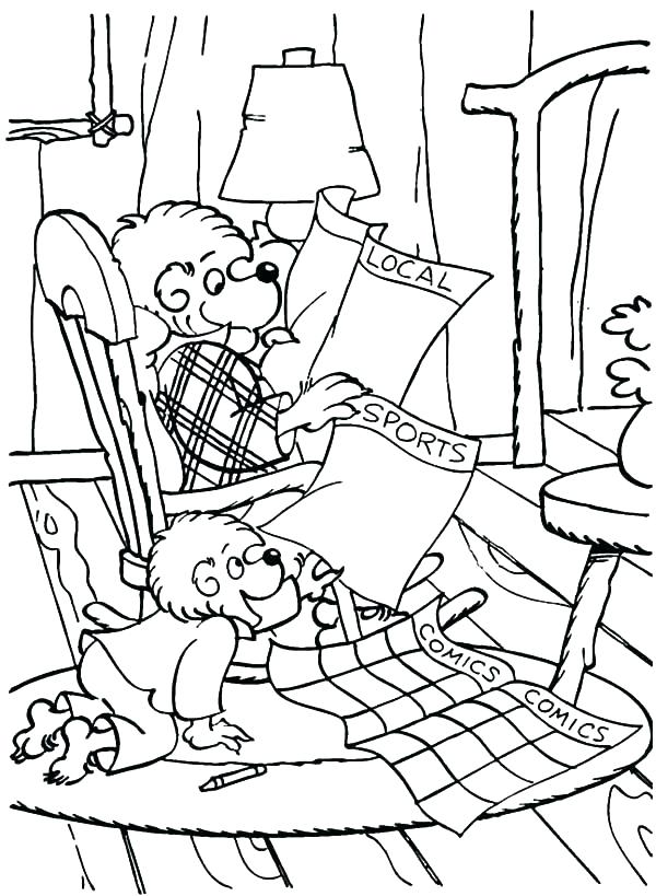 Newspaper Coloring Page